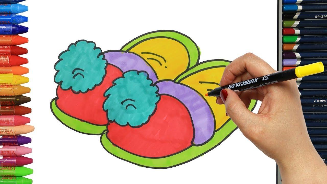Terlik Nasıl çizilir çocuklar Için Eğlenceli Boyama çizelim