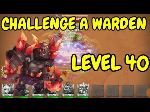 Challenge A Warden L Level 40 L Castle Clash
