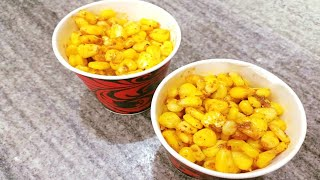 Corn Chaat Indian Recipe - Corn chaat Recipe | Masala Corn Recipe | Spicy Sweet Corn Chaat