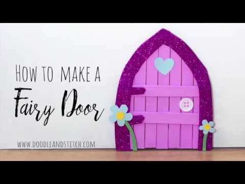 How to make a fairy door diy craft out of lolly sticks How to make a fairy door out of clay