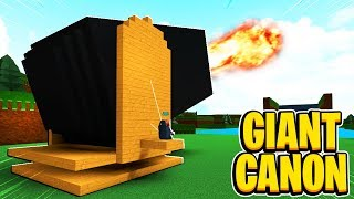 GIANT Working Canon In Build A Boat For Treasure In Roblox
