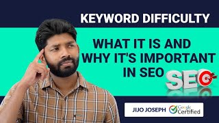 SEO Tutorial for Beginners Malayalam [Class -08]  SEO Difficulty [SD IN SEO ] [2020]