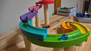 Marble Run ASMR ☆ Pottery & wooden course of various colors