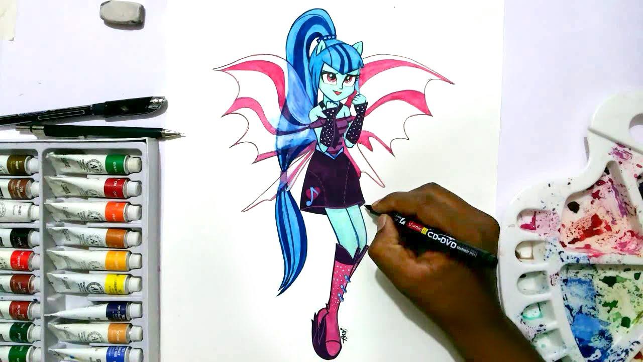 How To Draw My Little Pony Equestria Girls Sonata Dusk
