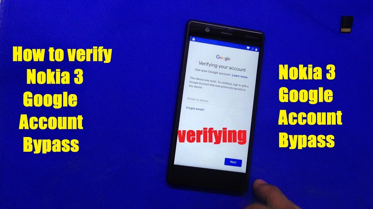 Nokia 3 Google Account Bypass by MobiTech