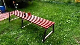 скамейка своими руками дешево быстро на дачу для дома