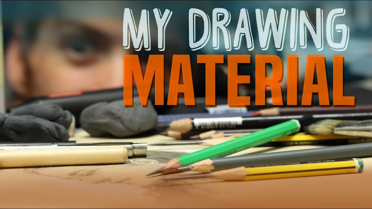 A Tour of my Drawing Material + How to Sharpen your Pencil like a Pro !!
