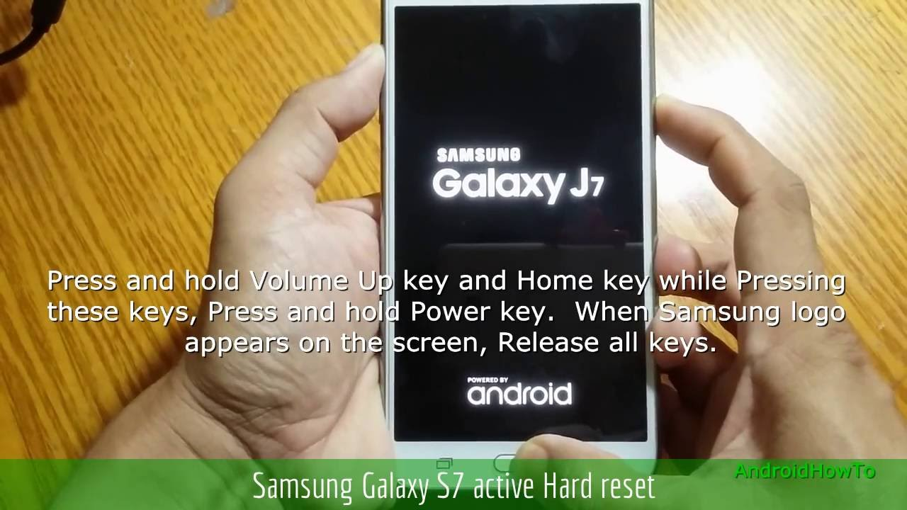 How to reset galaxy s7 active without password