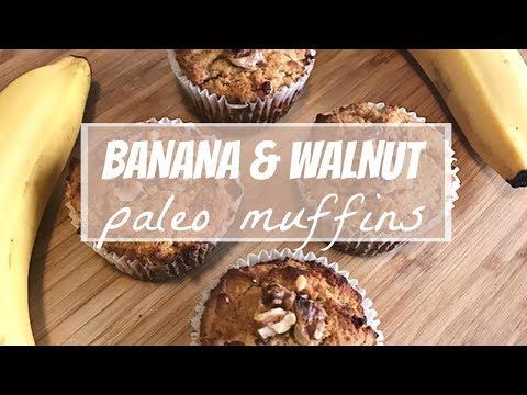 HEALTHY BANANA MUFFINS | Gluten, Dairy & Refined Sugar Free