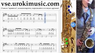 Как играть на саксофоне (альт) Drake - God's Plan Табы um-i821