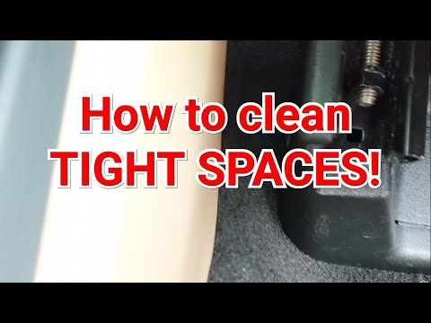 How to clean around seats and tight spaces in your car!