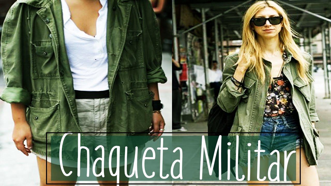 3c0a9a7646d Chaqueta Mujer Militar Verde - Estilo y moda outfit - YouTube