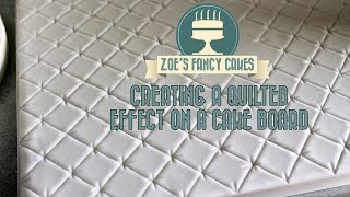 Creating A Quilted Effect On A Cake Board How To Quilting Tutorial