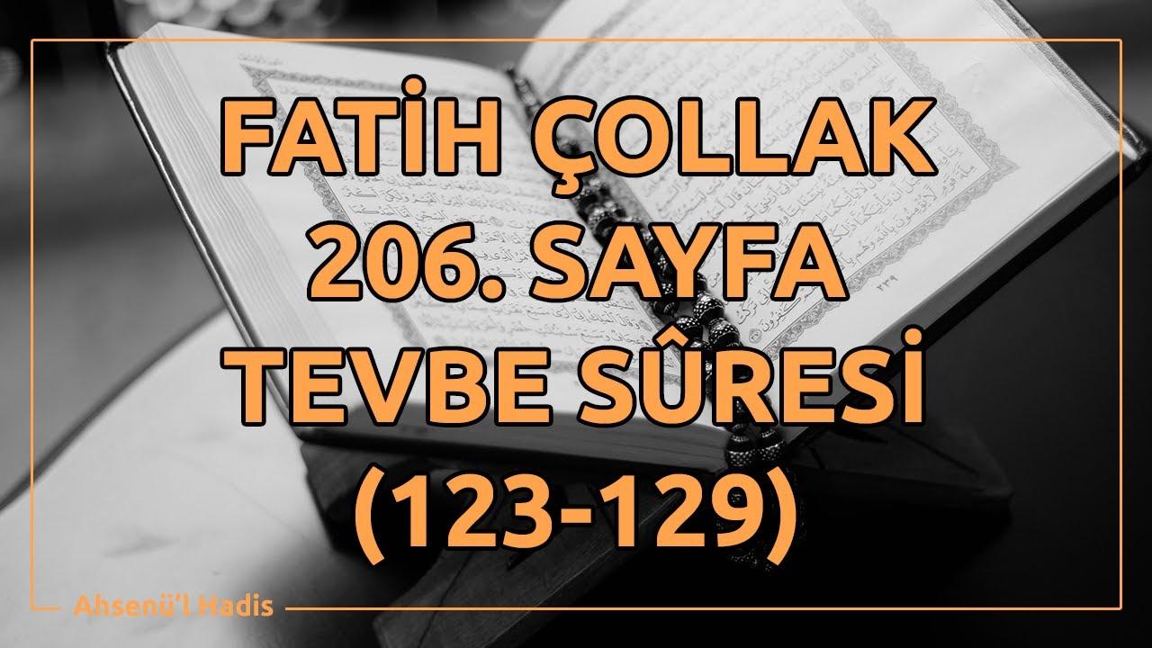Fatih Çollak - 206.Sayfa - Tevbe Suresi (123-129)