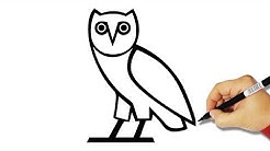 How to Draw the OVO Owl Logo | DRAKE