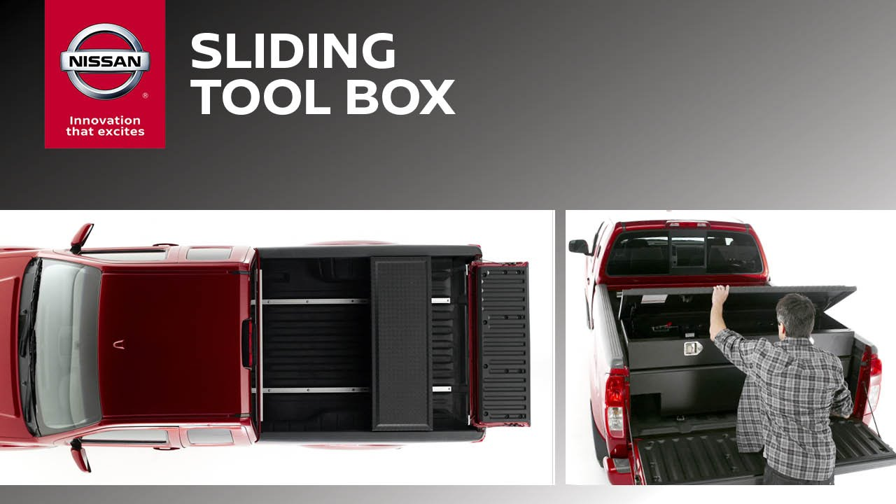 Sliding Tool Box for Trucks   Genuine Nissan Accessories   YouTube