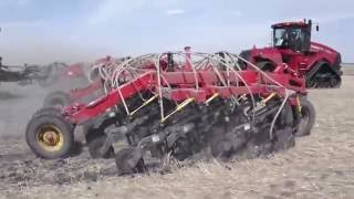 Case IH 600 4wd tractor with BIG Bourgault 7700 aircart