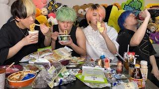 【大食いVS大飲み】食べ物のみと飲み物のみどちらがカロリー多く摂取できるか?【ネクステ】