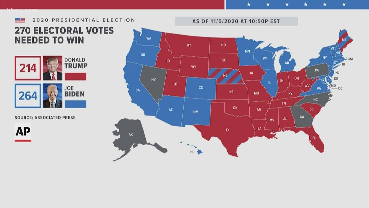 Here is where the electoral votes stand this morning | Election 2020 update Friday morning