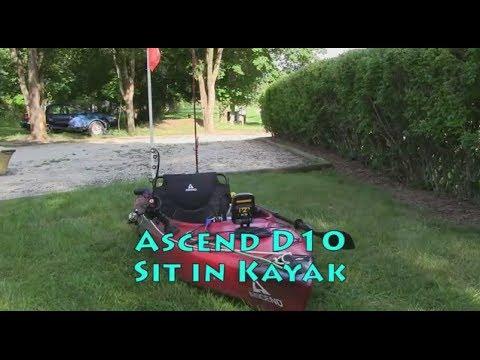 Ascend D10 Sit In Kayak fishing setup