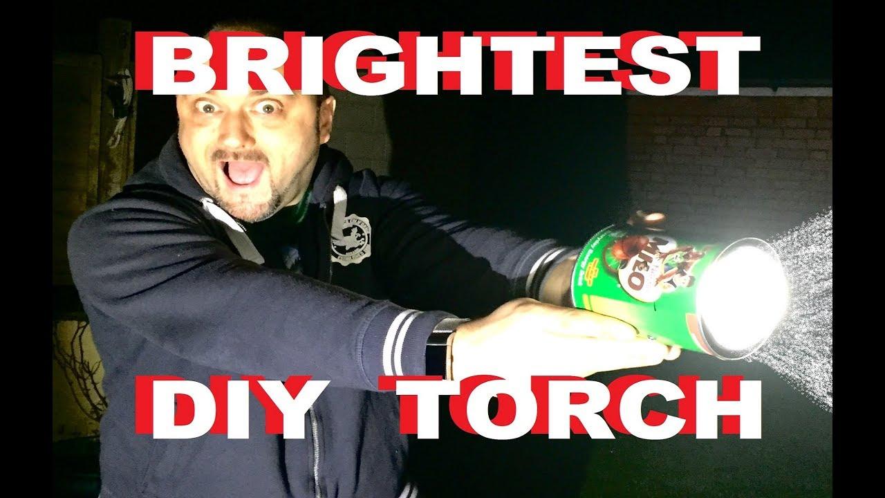 Dub Eng Brightest Torch Pt2 Diy Flashlight With Cree Led 50watt Lumens Compare Xhp50