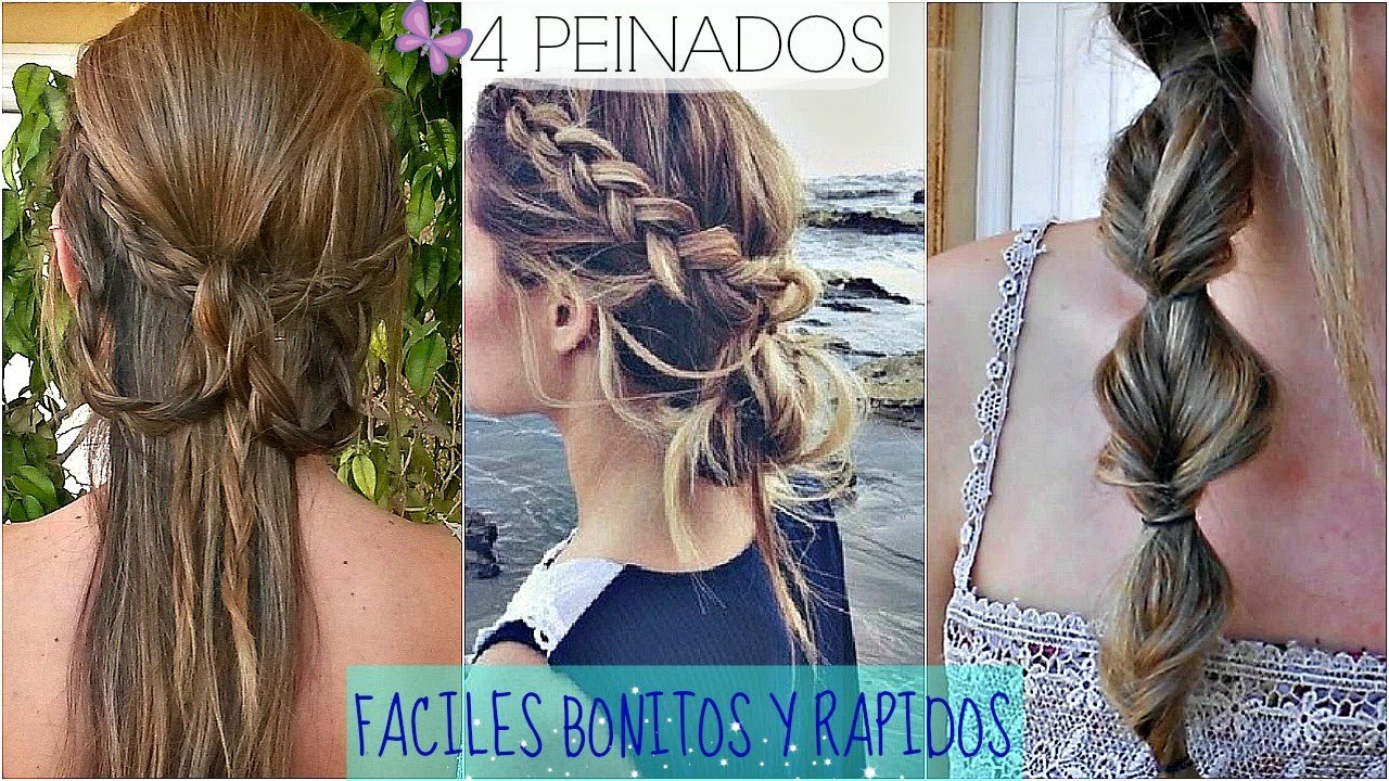4 peinados faciles y rapidos para ir a clase back to - Peinados sencillos y faciles ...