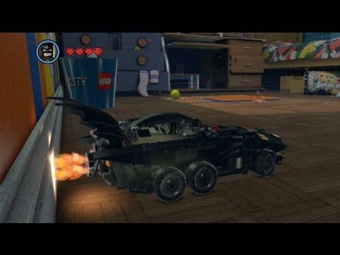 The LEGO Movie Videogame - Golden Instruction Build #6 - Batmobile Vehicle Showcase