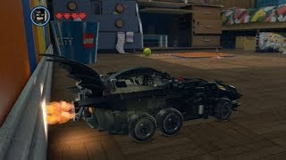 The LEGO Movie Videogame - Golden Instruction Build #6 - Batmobile Vehicle Showcase