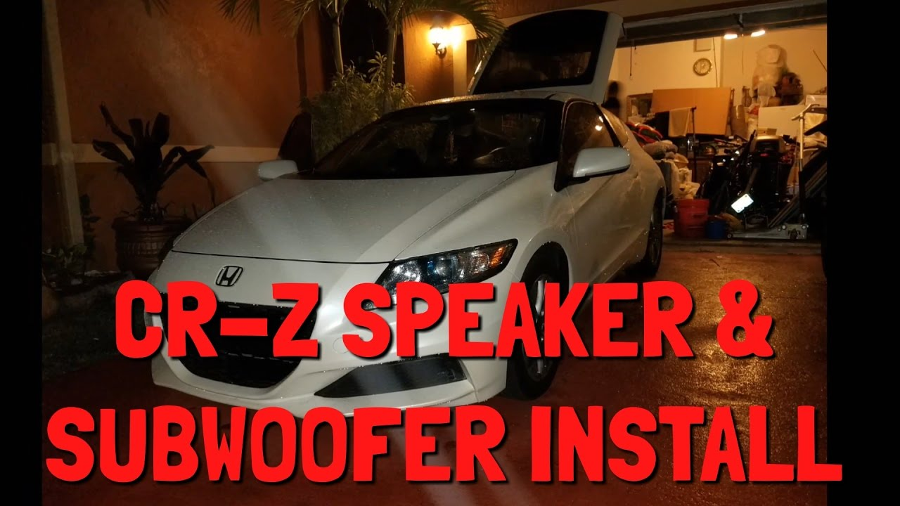 Want B Speakers For Honda Crz Hybrid Installing Kicker Hideaway Amplifier Subwoofer Combo