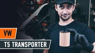 Cómo cambiar la filtro de aceite y aceite de motor en VW T5 TRANSPORTER Furgón [AUTODOC]