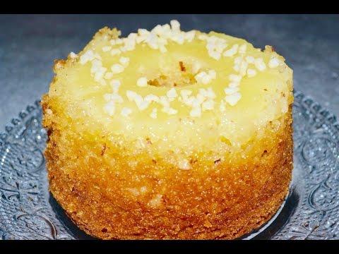 gâteau-ananas-amandes/طريقة-عمل-كيك-الاناناس-المقلوبه