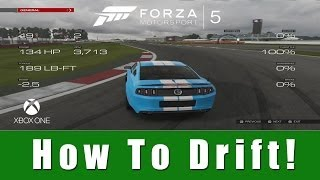 Forza Motorsport 5 - How to Drift (Tutorial) | SLAPTrain