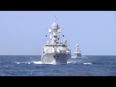 Blow cruise missiles Russian warships attack ISIS positions in Syria from the Caspian Sea