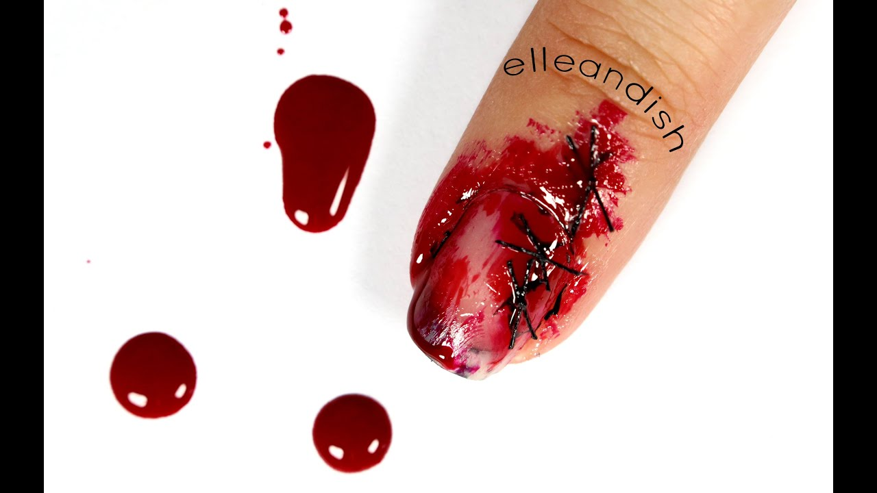☠ Halloween Gore: Stitched Nails (No Fake Nails Needed!) ☠ - YouTube