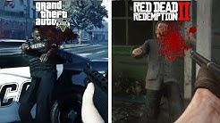 GTA 5 vs Red Dead Redemption 2 | Euphoria Physics Comparison