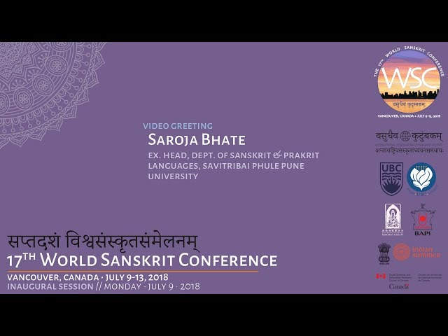 WSC2018 Greeting by Saroja Bhate