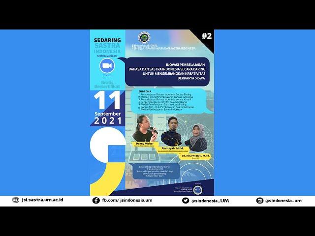 Seminar Nasional dalam Jaringan Pembelajaran Bahasa dan Sastra Indonesia Tahun 2021 (Seri 2)