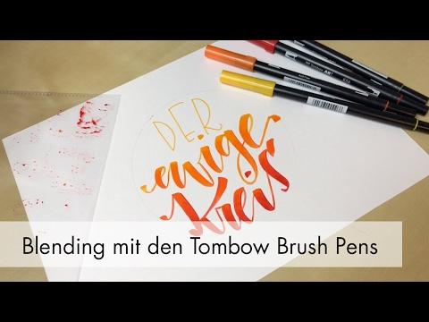 Blending Tutorial mit den Tombow ABT Dual Brush Pens