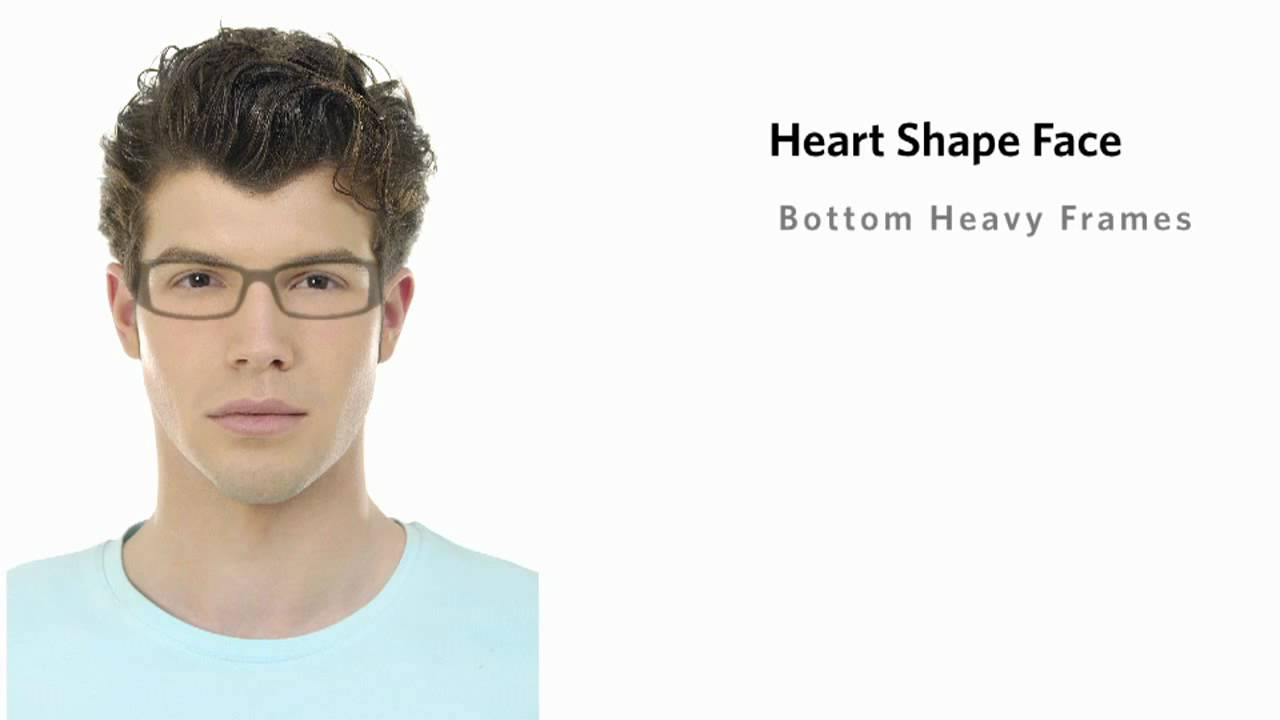 Glasses Frame For Heart Face : Frames for a Heart Face Shape - Male - YouTube