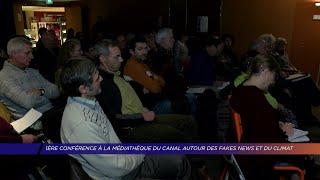 Yvelines | 1ère conférence à la médiathèque du canal autour des fake news et du climat