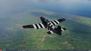 DCS World 2.5.4: P-51 Charnwood Campaign Mission 4 (1440p)