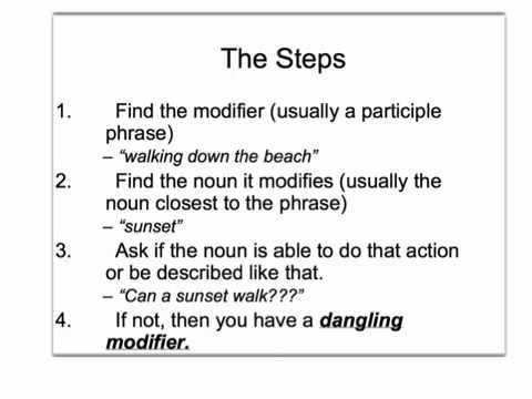 Dangling Modifier Lecture Mr Chiang