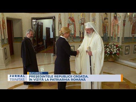Preşedintele Republicii Croaţia, în vizită la Patriarhia Română
