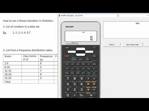 Finding Mean And Standard Deviation Using A Sharp Calculator