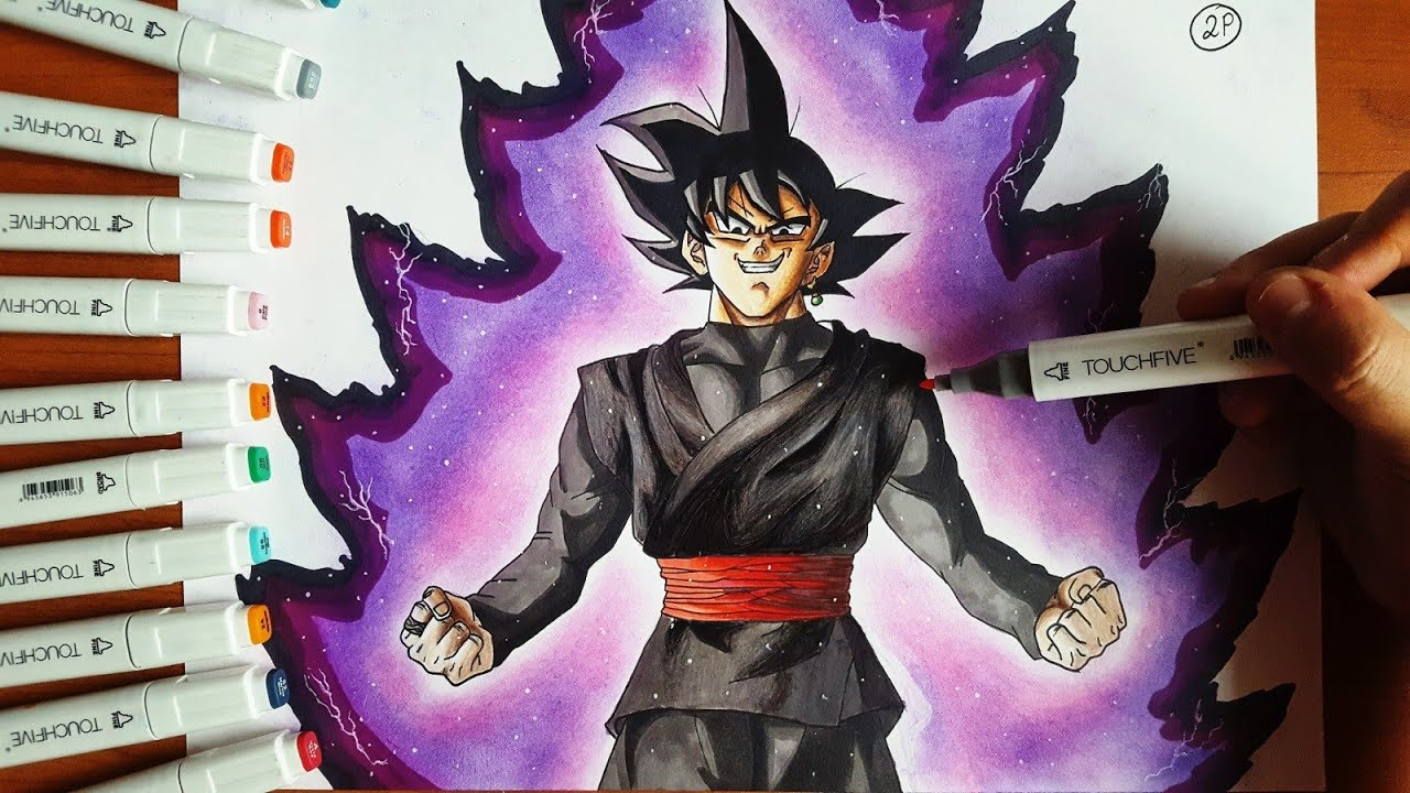 Disegno Black Goku Dragon Ball Super Speed Drawing Youtube