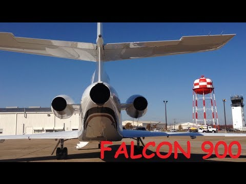 PRIVATE FLYING - FALCON 900 JET