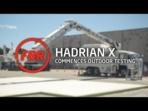 Hadrian X commences outdoor testing - FBR Vlog
