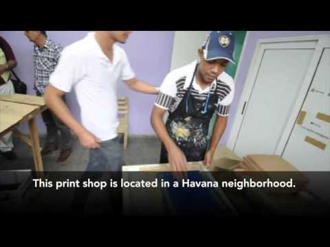 Havana printmaking shop