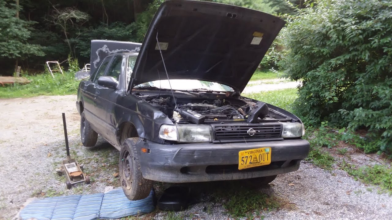 1994 Nissan Sentra - Starter and steering hose replacement on