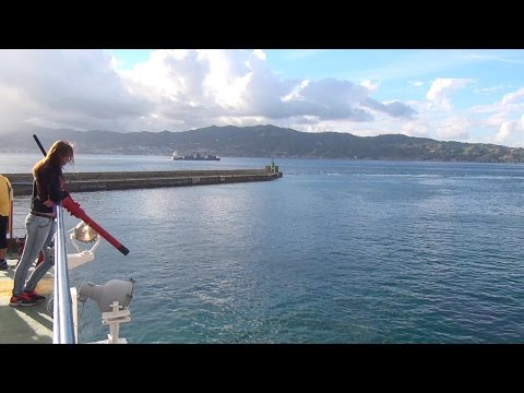 Strait of Messina with Ferry Fata Morgana Italy Sicily Italien Sizilien 11.10.2015